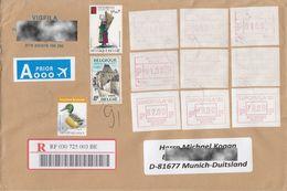 Belgium , Duck, Castle, Traditional Worker, ATM, FRAMA, Nice Used Letter - Documents De La Poste