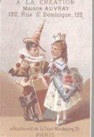 CHROMO A LA CREATION MAISON AUVRAY PARIS  LES DEGUISEMENTS - Trade Cards