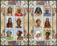 Namibia Mi# 1061-72 II KLB Postfrisch/MNH - Traditional Women - Namibia (1990- ...)