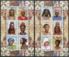 Namibia Mi# 1061-72 I KLB Postfrisch/MNH - Traditional Women - Wrong Backside - Namibia (1990- ...)