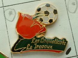 PIN'S  FOOTBALL - LES COQUELICOTS LE TREVOUX -  FINISTERE - BRETAGNE - Fútbol