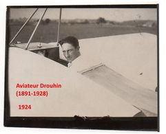 1 Photo Originale Presse Aviation Française Pilote Drouhin 1924  Années 1920 - Aviazione
