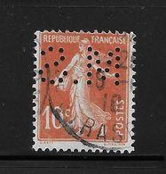 Perfore , Perfin France Semeuse Nr 135 , Perfo M.S - Alger Algerie - France