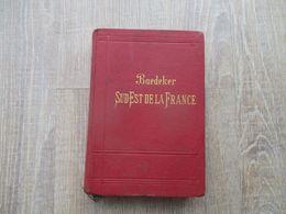 GUIDE BAEDEKER SUD EST DE LA FRANCE 1901 MANUEL DU VOYAGEUR DU JURA A LA MEDITERRANEE - Livres, BD, Revues