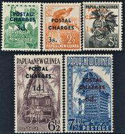 + PAPUA NEW GUINEA : Mi Porto #1..6 SG #D2-6 Sc #J1-J5 Postage Due / Porto / Birds / Houses (1960) MLH * Neufs [SALE] - Papua New Guinea