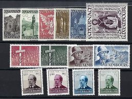 Luxembourg  -  Timbres 1947 Série G.Patton / Michel Lentz / St.Willibrord  Postfrisch ** MNH  KW 77 - Blocs & Feuillets