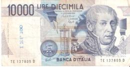 ITALY ITALIA 10000 Lire 1984 - 1000 Lire