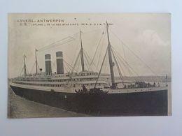 1920 CP Anvers Antwerpen Bateau Navire Lapland De La Red Star Linel L189 M B 21 3 M T 18694 - Antwerpen