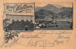 HALLEIN SALZBURG AUSTRIA ~ GEGEN Das FANNENGEBIRGE ~1900 PANORAMA PHOTO POSTCARD 46670 - Autriche
