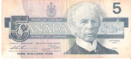 Canada 5 Dollars 1986 - Canada