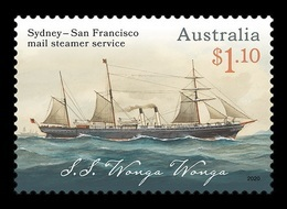 Australia 2020 Mih. 5076 Sydney-San Francisco Mail Steamer Service. Ship Wonga Wonga MNH ** - 2010-... Elizabeth II