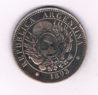 DOS CENTAVOS 1893 ARGENTINIE /4299/ - Argentine