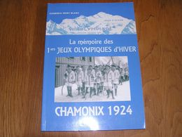LA MEMOIRE DES PREMIERS JEUX OLYMPIQUES 1924 Olympiade Sport Chamonix France Ski Hockey Curling Bobsleigh Patinage Saut - Sport
