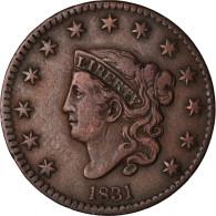 Monnaie, États-Unis, Coronet Cent, Cent, 1831, U.S. Mint, TTB+, Cuivre, KM:45 - Federal Issues