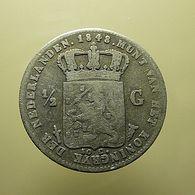 Netherlands 1/2 Gulden 1848 Silver - 1840-1849 : Willem II