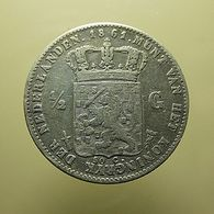 Netherlands 1/2 Gulden 1861 Silver - 1849-1890 : Willem III