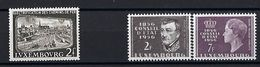 Luxembourg  -  Timbres 1956  Conseil D'Etat / Gare Luxbg  Postfrisch **  MNH  KW 8,00 € - Blocs & Hojas