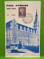 Centenaire Eeuwfeest, Paul Hymans 1965 - Cartes Souvenir
