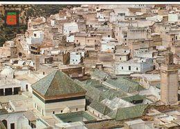 Carte Postale. Maroc. Moulay-Idriss.  Vue Générale De La Ville. Le Mausolée Au Premier Plan. Etat Moyen. - Islam