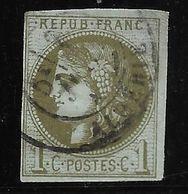 France N°39Cc Olive Bronze Oblitéré C à Date Cote 300€ - 1870 Emission De Bordeaux