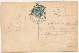 1909 PIROSCAFO POSTALE ITALIANO NAPOLI SU CARTOLINA ISCHIA CASAMICCIOLA - Storia Postale