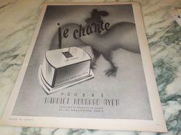 ANCIENNE PUBLICITE POUDRE JE CHANTE   HARRIET HUBBARD AYER - Parfum & Kosmetik