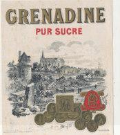 AN 989 / ETIQUETTE -   GRENADINE PUR SUCRE - Fruits & Vegetables