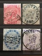 N° 38-41 Oblitérés 41 Avec Une Dent Courte Coin Inf Droit Cote 100€ TB - 1883 Leopold II