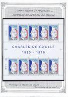 SAINT PIERRE ET MIQUELON - N°622 NEUF EN FEUILLE DE 10 25EME ANNIVERSAIRE DE LA MORT DU GENERAL DE GAULLE - De Gaulle (General)