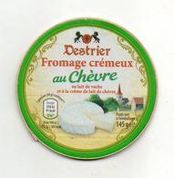 Dessus D'une Boite De Fromage Carton épais Destrier Fromage Crémeux Au Chèvre - Other Collections