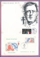 WALLIS ET FUTUNA - ENVELOPPE PREMIER JOUR 18 JUIN 1979 MATA UTU GENERAL DE GAULLE TIRAGE LIMITE N° 02478 - De Gaulle (General)