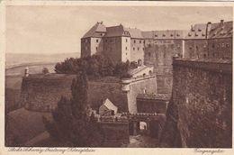 AK Sächsische Schweiz - Festung Königstein - Eingangstor - 1932 (50622) - Koenigstein (Saechs. Schw.)