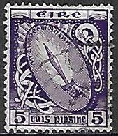 IRLANDE   -  1922 / 24.    .Y&T N° 47 Oblitéré.  Glaive De Lumière - 1922-37 État Libre D'Irlande