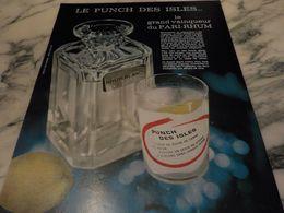 ANCIENNE PUBLICITE  RHUM DES ISLES 1964 - Alcools