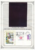FRANCE - 2 ENVELOPPES JOURNEE DU TIMBRE CHAMPAGNOLE JURA+CASTRES MARS 1994 GENERAL DE GAULLE - De Gaulle (Général)