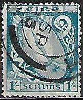IRLANDE   -  1922 / 24     .Y&T N° 51 Olbitéré.  Glaive De Lumière - 1922-37 État Libre D'Irlande