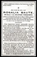 Knesselare, 1921, Rosalia Baute, Verkimpe - Images Religieuses