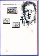 POLYNESIE FRANCAISE/URUGUAY - 3 TIMBRES NEUFS GENERAL DE GAULLE + 30EME ANNIVERSAIRE DU DEPART DES VOLONTAIRES TAHITIENS - De Gaulle (General)
