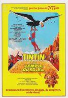 Carte Postale HERGE Affiche Film Tintin Et Le Temple Du Soleil Raymond Leblanc 1968 - Postcards