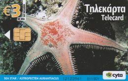 Cyprus, CYP-C-185, 0110CY, Underwater, Sea Star, Starfish, 2 Scans. - Cyprus