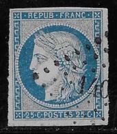 N° 4 CERES 25 C. BLEU OBLITERE TB COTE 65 € - 1849-1850 Cérès