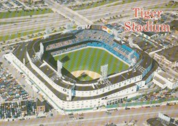 MLB Detroit Tigers Stadium Detroit Michigan Baseball C1980s/90s Vintage Postcard - Baseball