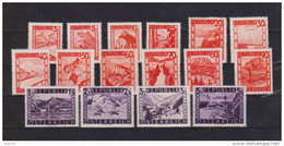 """Österreich 1947: """"Landschaften Rot"""" Kompletter Satz Postfrisch Luxus - 1945-.... 2nd Republic"""