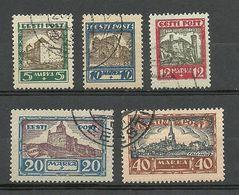 Estonia Estland 1927 Medieval Castles Michel 63 - 67 O - Estonie