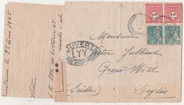 25 Mars 1945 / Lettre  Pour Soldat Blessé Julliand / Censure / Grand Hôtel à Leysin Suisse - 1939-45