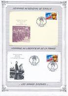 FRANCE - ENVELOPPE + CARTE LES 50 ANS DU DISCOURS D EPINAL LES GRANDS DISCOURS PLACE FOCH GENERAL DE GAULLE - De Gaulle (General)