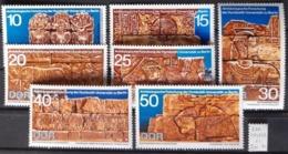 ALLEMAGNE RDA / YT 1297 - 1303 / ARCHEOLOGIE - SOUDAN - ELEPHANT - BOEUF / NEUFS ** / MNH / COTE : 5.00 € - Archéologie
