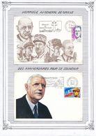 FRANCE - 2 CARTES MEMORIAL ET RESIDENCE DU GENERAL DE GAULLE COLOMBEY LES 2 EGLISES 1995 - De Gaulle (General)
