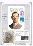 FRANCE - CARTE + ENVELOPPE RESIDENCE ET MEMORIAL DU GENERAL DE GAULLE COLOMBEY LES 2 EGLISES 1997 - De Gaulle (General)