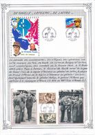 FRANCE - 2 ENVELOPPES 50EME ANNIVERSAIRE DE LA VICTOIRE LECLERC DE GAULLE DE LATTRE 1995 - De Gaulle (General)